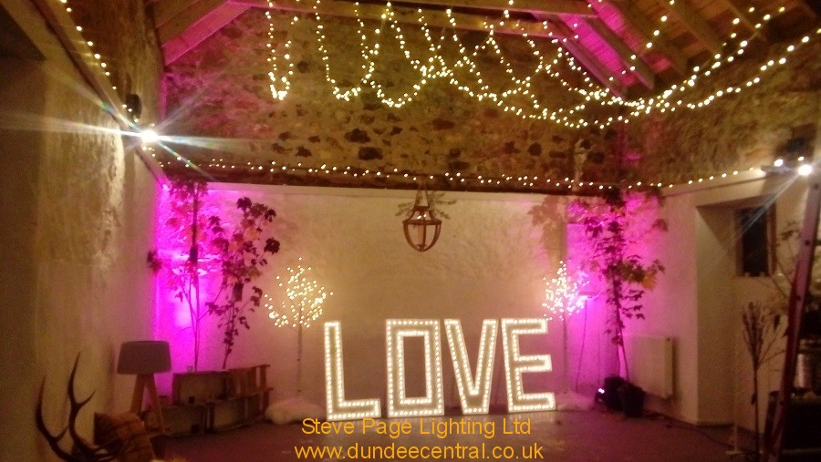 Steve Page Lighting Hire At The Cow Shed, Crail
